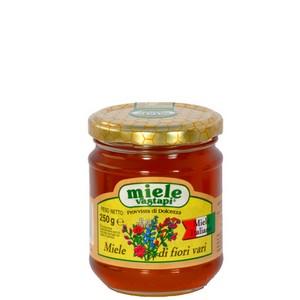 MIELE MILLEFIORI (IN VETRO) 250GR - Miele Online - Confezioni monodose miele matrimoni ed eventi - Vastapi